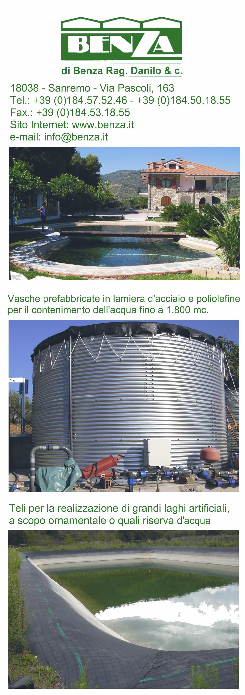Benza prodotti di qualita 39 certificati for Teli per laghi artificiali